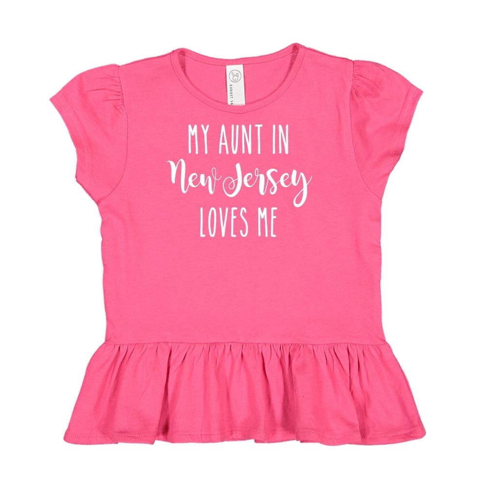 Toddler//Kids Ruffle T-Shirt My Aunt in New Jersey Loves Me