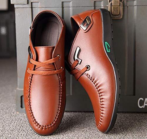 de Cabeza Verano Zapatos Ocasionales Brown Zapatos Respirables Goma Coreana versión Antideslizante Suelas Redonda Salvajes de y Los de los los Microfibra Hombres Nueva de de Primavera Koyi Rg6qZ8fw