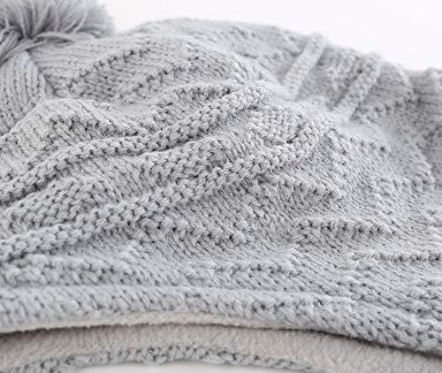 6e6052b73 Connectyle Girls Boys Kids Knit Kids Hat Fleece Lined Beanie Skull Cap with  Earflap Warm Winter Beanies Cap Grey