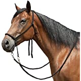 Bitless Bridle of Soft Braided Poly With 9 Reins