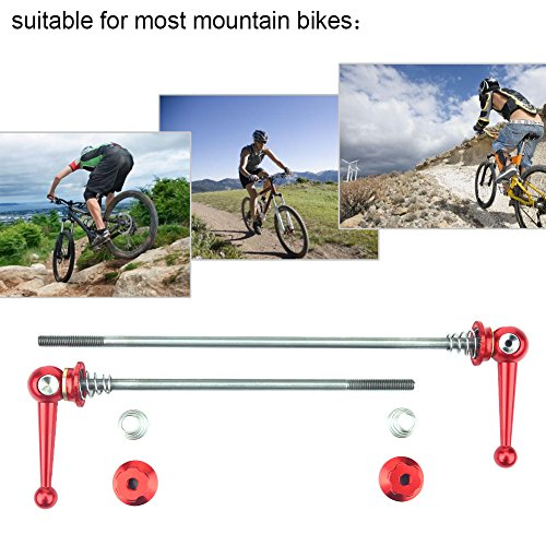 (2Pcs Bicycle Skewers Ultralight Titanium Alloy Quick Release Skewers Set Bike Replacement Repair Parts Accessory for MTB Road Bike (Red))