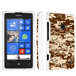 SkinGuardz Nokia Lumia 521 Full Protection Hard Case - (Desert Camo White)