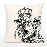 Athena Bacon Pillowcase Decor Cover Christian Lamb Revelation 7:9 Scripture Pillowcase Decor Crown Pillowcase Decor 16x16 Canvas Throw Pillowcase Decor Cottage Farmhouse Gift
