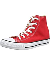 Chuck Taylor All Star Seasonal Color Hi (8.5 B(M) US Womens / 10.5 D(M) US Mens, Red)