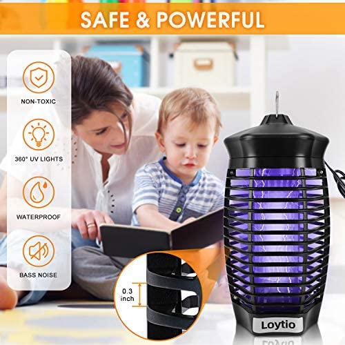 ZAAPTOL Bug Zapper & Attractant – Electric Mosquito Zappers/Killer – Insect Fly Trap, Waterproof Outdoor/Indoor – Electronic Light Bulb Lamp for Backyard, Patio 5164l UNJXL