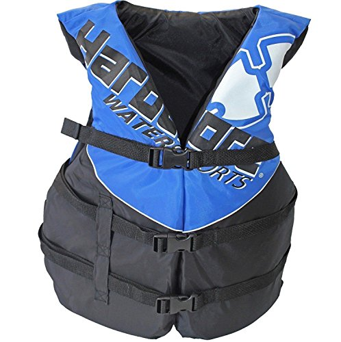 Hardcore Water Sports Adult Life Jacket Vest - US Coast Guard Approved Type III (Blue Adult Universal) ()