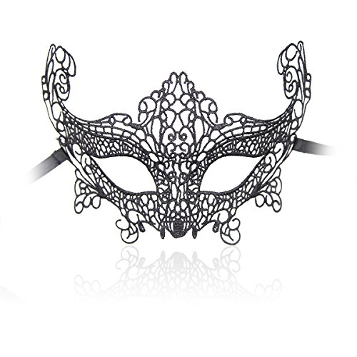 ENUOLADY Women's Lace Eye Mask for Halloween Masquerade Party Role Play (Style 1) - Cheap Masks For Sale