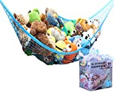 Emoji Stuff for Sale MiniOwls Toy Storage Hammock X-Large Organizer and De-cluttering Solution for Every Boy's Room, Nursery & Playroom (Blue, XL)