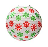 Christmas Decorations Window Store Layout Props Snowflake Lanterns White, 2 Pack