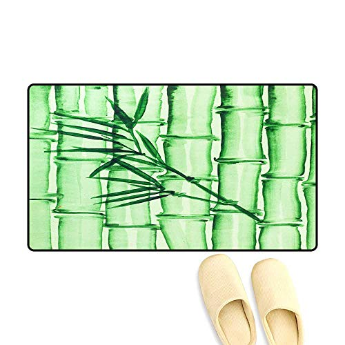 Sparta Bamboo - Bath Mats for Floors Bamboo Grove on Green Colore Paper