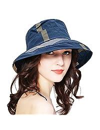 DOCILA Stylish Bucket Hats for Women Classic Plaid UV Protection Sun Hat Outdoor Adjustable Fisherman Rain Cap