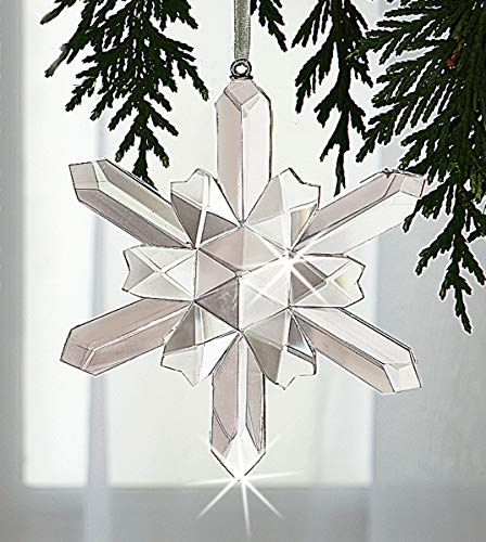The Paragon Crystal Snowflake Ornament - Handcrafted Faceted Christmas Ornament Suncatcher