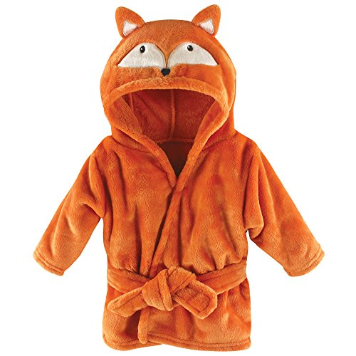 Hudson Baby Unisex Baby Plush Animal Face Robe, Fox, One Size (Nursery Clothing Hamper)