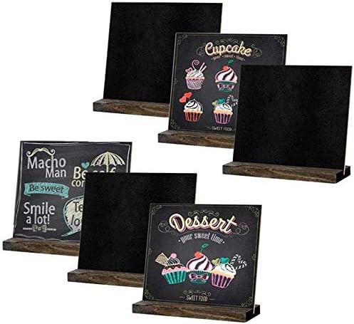 doppelseitige Tafel f/ür Hochzeit Geburtstag Bar Buffet Party Dekoration Tischplatte Nachricht Tafel mit Holzst/änder 6 ST/ÜCKE Mini Tafel Zeichen