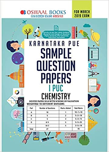 Oswaal Karnataka PUE Sample Question Papers For PUC I