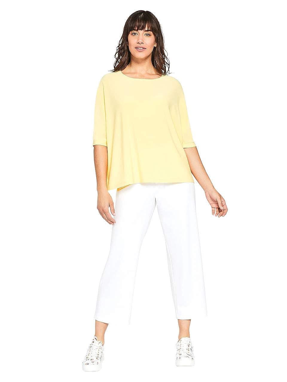 Sympli Womens Clip Top-Lemon
