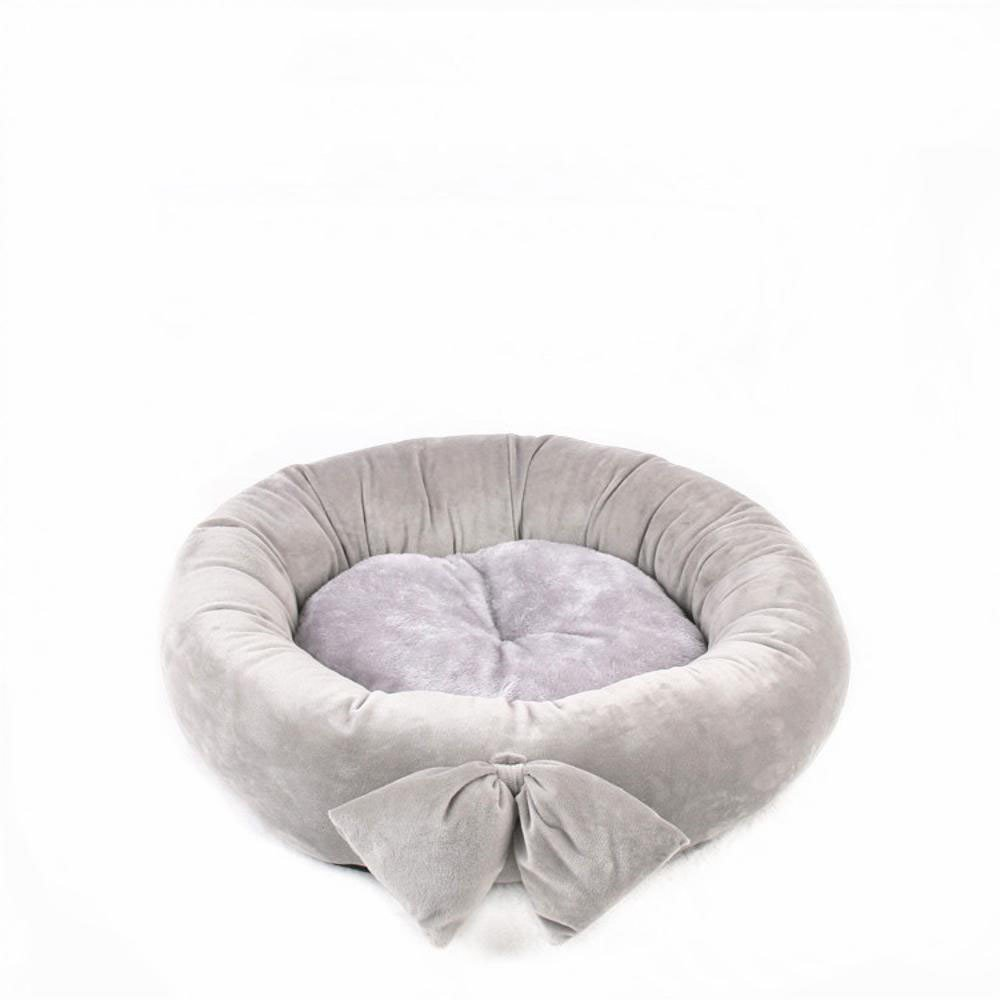 G 45cm G 45cm Aoligei Small and Medium-Sized Dog pet nest Cushion cat nest Butterfly Knot Round Kennel Four Seasons Perfect for Sunbathing mat, Nap&Sleeping Bed