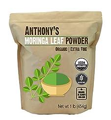 Anthony's Organic Moringa Leaf Powder, 1...