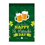 st patricks outdoor flags - KissDate Happy St. Patrick's Day Garden Flag with Lucky Irish Beer Mug, Perfect for Indoor Outdoor Garden Decoration (12.5