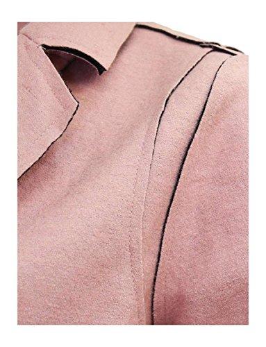 Ma Coquette - Abrigo - Manga Larga - para mujer Rosa