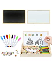 Tizzic Children's Magnetic Black/Whiteboard Dual-Use Digital Math Learning Box-Kindergarten Early Education Wooden Toys, Multi-Function Counting Stick, Children's Art Drawing Board, Useful Math Education/Birthday/Christmas/School Gifts (Over 3 Years Old)