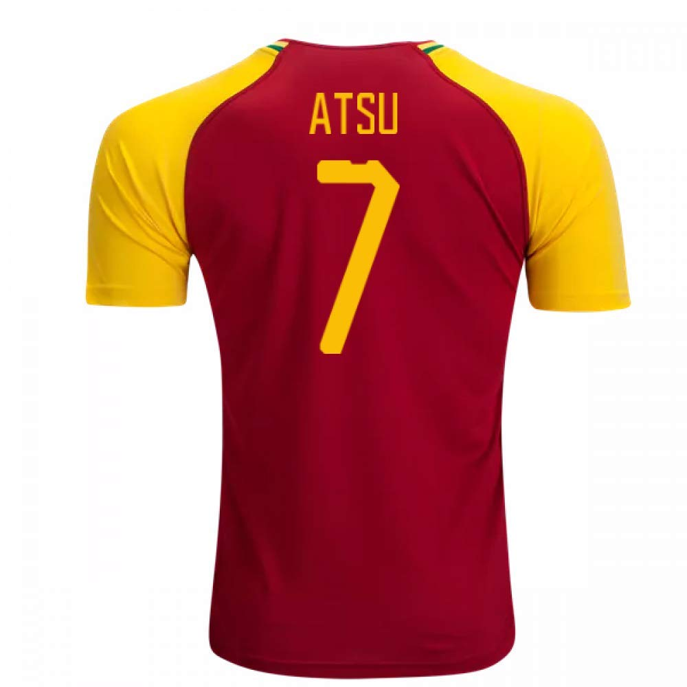 2018-19 Ghana Home Football Soccer T-Shirt Trikot (Christian Atsu 7)