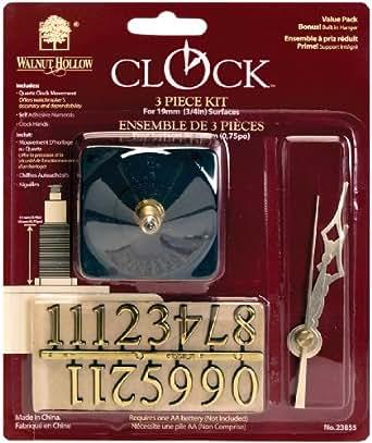 Walnut Hollow 3 Piece Clock Kit, 3/4-inch