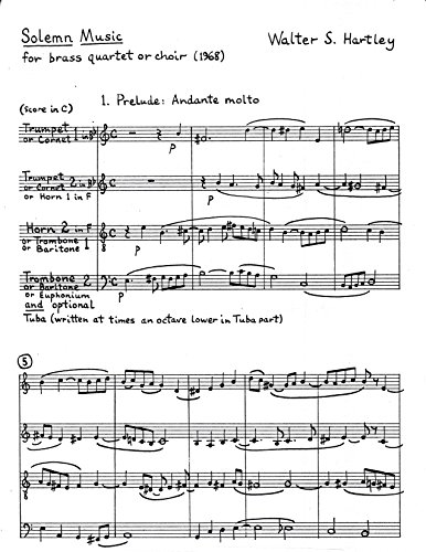 Solemn Music for Brass Quartet by Walter S. Hartley ()