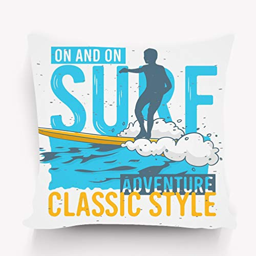 wuhandeshanbao Pillow case Surfing surf Themed ads Sticker Poster Flyer Design Image 18 18 inch