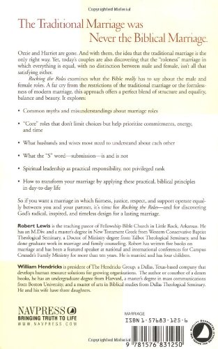 Rocking the Roles: Building a Win-Win Marriage: Robert Lewis ...