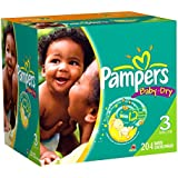 Pampers Baby Dry Diapers Economy Plus Pack, Size 3, 204 Count