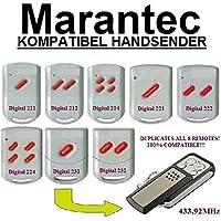 Marantec Digital 211/212/214/221/222/224/231/232compatible handsender, klone Fernbedienung, 4canales, 433.92MHz