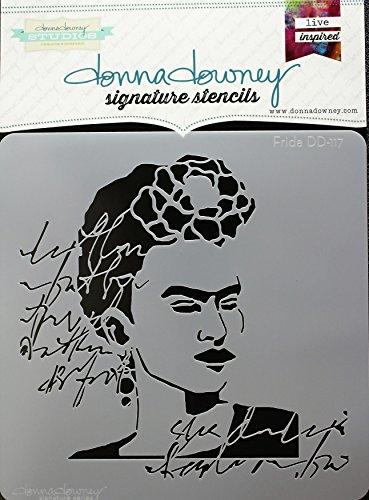 Donna Downey Stencils DD-117 Signature Stencils 8.5''X8.5''-Frida by Donna Downey Stencils