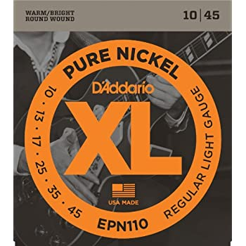 d 39 addario electric guitar strings regular light gauge round wound with nickel plated. Black Bedroom Furniture Sets. Home Design Ideas