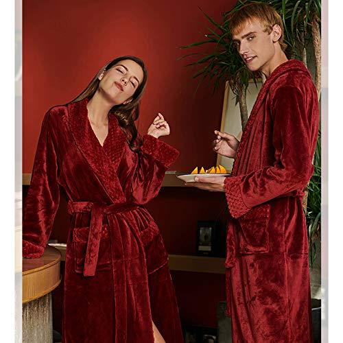 Rosso Casual Soft Inverno Accappatoio WKNBEU Abito Donne Notte Home Vestaglia Per Super Da Le Red Dormire Autunno Hotel Unisex Spessa Spa Lungo Grigio Donna zBTExTq