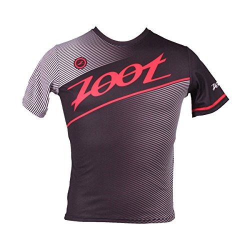 ZOOT Men's Run Team Tee, Black/Race Day Red, - Bike Run Swim Kona