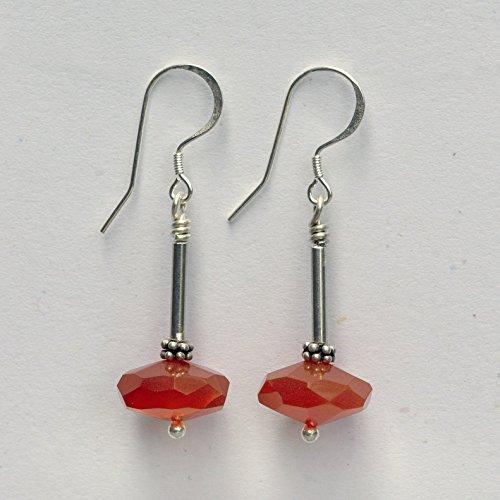 Carnelian Drop Earrings -