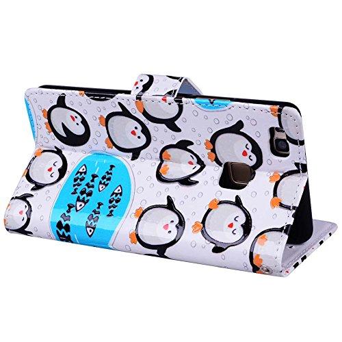 Huawei P9 Lite Leder Hülle Brieftasche für Huawei P9 Lite Tasche ...