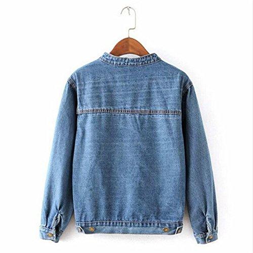 e9604310aeb542 ... Denim Lose Für Frauen Kurze Jeansjacke Outwear Herbst Mode Vintage  Jeans Jacken ...