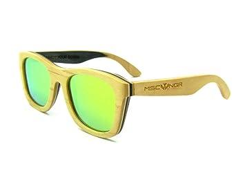 Gafas de sol de madera MOSCA NEGRA modelo SKATE DESERT wood ...