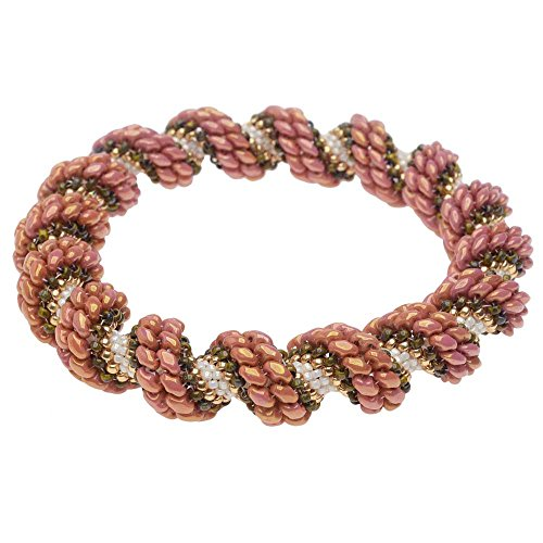 Beadaholique Cellini Spiral Bracelet in Sedona Rose - Exclusive Jewelry Kit