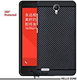 Hello Zone Exclusive Premium Quality Dotted Matte Finish Soft Rubberised Back Case Cover For Xiaomi MI Redmi NOTE 4G / NOTE PRIME - Black - Black