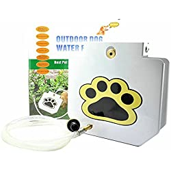 """Pet Healthy Outdoor Step-On Dog Water Fountain with 40"""" Copper Hose"""