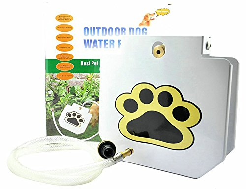 Pet Healthy Outdoor Step-On Dog Water Fountain with 40