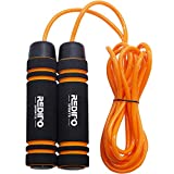 Redipo sports Weighted Jump Rope (1LB) Thick Speed Cable with Solid Core with Memory Foam Handles for Cadio,Boxing,MMA,Fitness Workouts and Endurance Training,Jumping Exercise