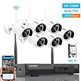 [Newest Strong Version WiFi] Wireless Security Camera System, ISOTECT 8CH Full HD 1080P Video Security System, 6pcs Outdoor/Indoor IP Security Cameras, 65ft Night Vision and Easy Remote View, 2TB HDD