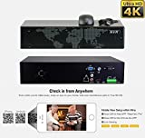 GW Security 16 Channel 4K NVR HDMI H.265 Security Network Video Recorder - Supports Up 16 X 4K 8MP/5MP/4MP/3MP 1080P Any ONVIF IP Cameras @ 30fps Realtime, Quick QR Code Smartphone Access, 4TB HDD