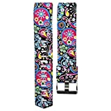 Fashion Clearance! Noopvan for Fitbit Charge 2 Straps Replacement Bands Adjustable Accessory Wristbands for Fitbit Charge 2 Large Small Variety of Colors Patterns (B)