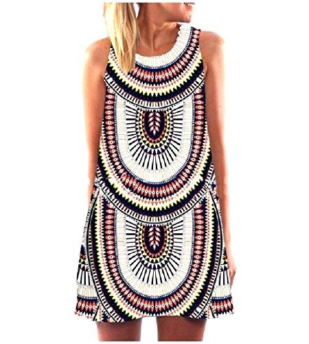 Dress Casual Sleeveless Women Black Summer Crewneck Tank Fashional Coolred wZvSq0