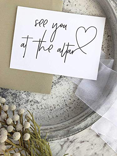 See You At The Altar Bride to Groom Wedding Day Card Husband To Be Gift ()